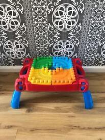 Mega bloks table & bloks