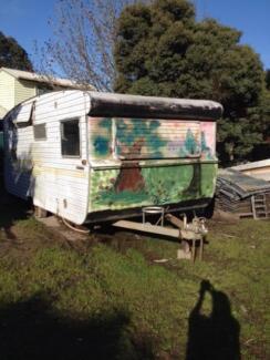 2 vintage caravans ready for restoration. $900 both
