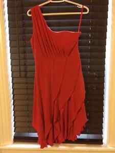 Beautiful One Shouldered Orange Dress - Perfect For Fall!!!!