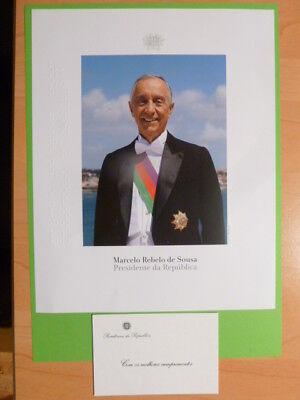Marcelo Rebelo de Sousa (POR) - Politik Präsident - Autogrammfoto ohne U.