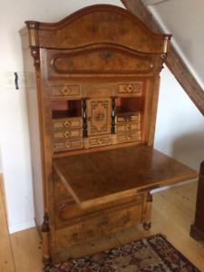 Antique german write cabinet