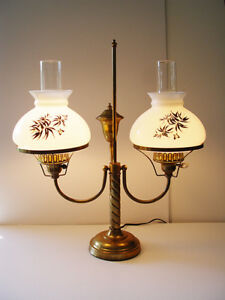 Vintage Double Student Lamp - Electric