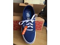 Blue Canvas 'Vans' Still in Box Unworn Size 5 UK