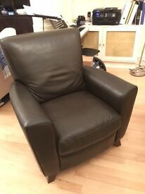 Brown Leather Recliner Chair (Expresso)
