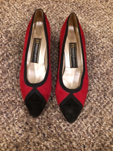 Red & Black Suede Roberto Capucci Shoes