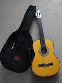 Acoustic Guitar with Carry Case - 3/4 Size - £40