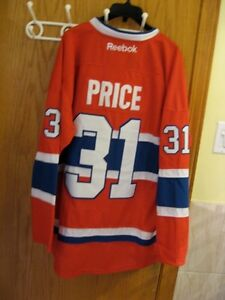 HOCKEY NHL JERSEY MONTREAL CANADIENS 31 CAREY PRICE CHANDAIL LNH