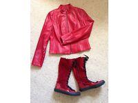 VINTAGE REPLAY (original) Knee Boots + Italian Leather Jacket