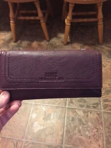 Leather Purple Roots Wallet