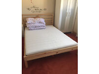 Standart Double Bed with Mattress