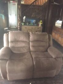 3 Piece suit, recliners, brown and suede material