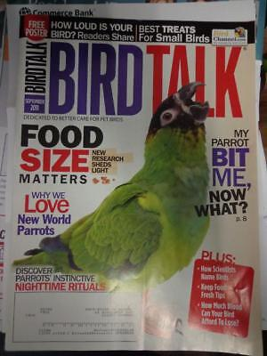 *BIRD TALK MAGAZINE Sep 11 Parrot Aggression Amazon Macaw Conure Feather Picking