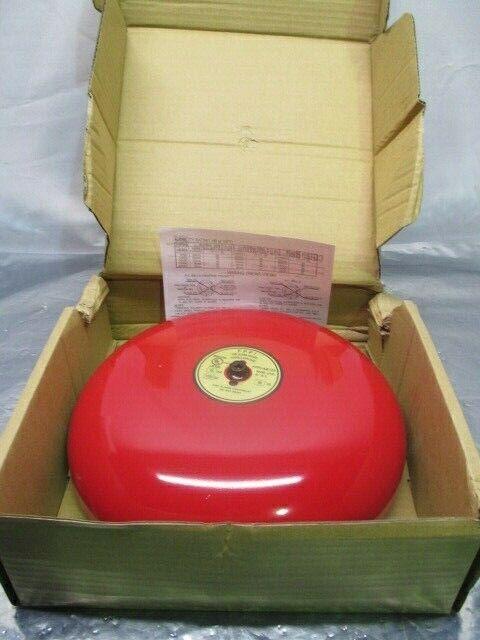 "FPPI FPPI-AB120 10"" Red Fire Alarm Bell, 98 dB, 02-450-00, 100303"