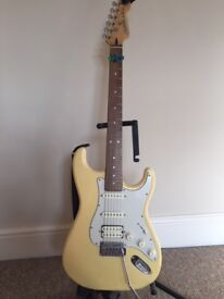 Cruiser By Crafter Yellow Electric Guitar With Amp and Accesories
