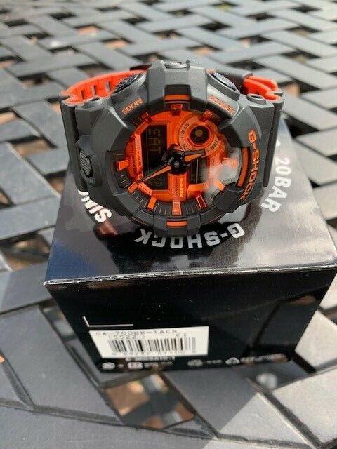 Casio G Shock Orange GA700BR-1  - $75.00