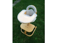 Quality Sven of Sweden High Chair (needs straps) good condition, but cushions a bit worn