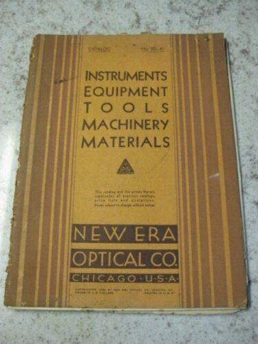 New Era Optical Co  Chicago c1940 Catalog