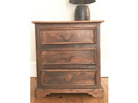 Maharajah Indian Rosewood 3 Drawer Chest of Drawers