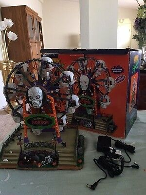 Lemax Spooky Town Wheel of Horror RAREEverything works
