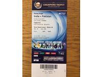 India vs Pakistan ICC Champions Trophy 2017 Gold Tickets Edgbaston 04/06/17