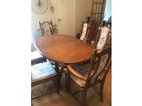ERCOL Dining Table ,Chairs , Bookcase and Corner Unit