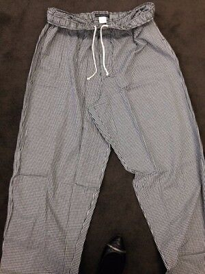 Blackwhite Checked Baggy Chef Pants In Xl 2xl