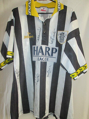 Notts County 1994-1995 Home Squad Signed Football Shirt with COA  /16282 image