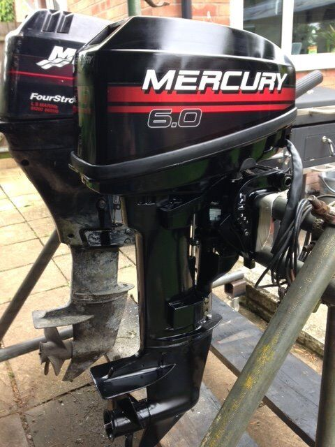 Mercury 6hp Outboard 2 stroke Electric Start - Remote Set Up- Full Service Rebuild
