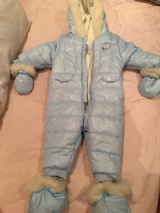 Retails $100+ Designer Baby Boy Winter Coat, Mittens & Shoes 9mo