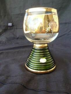 Vintage Austrian wine glass with music box. Bedford Bayswater Area Preview