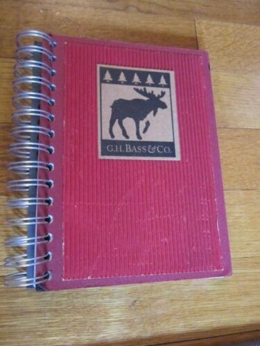 G.H. Bass & Co. Collectible Notebook Moose Blank Paper Book Journal