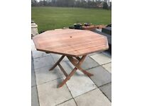 Solid Wood Hexagonal Garden Dining Table