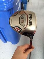 PING G15 BOIS 1 / DRIVER 12 DEGRES DROITIER $150