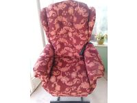 Riser recliner chair for sale. Very comfortable and in good working order.