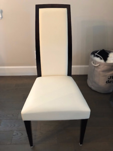 Leather Montbel Chairs - Immaculate Condition