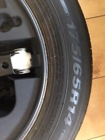 CITROEN C3 SPARE WHEEL AND JACK WITH INSERT FROM 54 PLATE C3