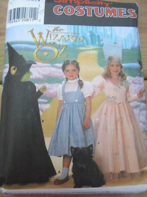 Bad Witch Wizard Of Oz Costume (SEWING PATTERN HALLOWEEN COSTUME SZ 3-8 WIZARD OF OZ GOOD BAD WITCH)