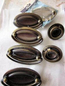 Cabinet Hardware, solid brass receptacle plates, etc