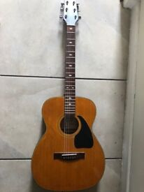 Kimbara 2/G acoustic electric guitar with professionally fitted bridge pick-up.
