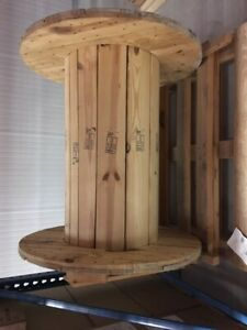 Large Wooden Wire Spools