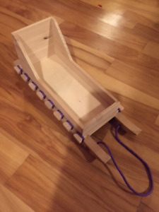 Wooden Dolls Sled - Fits American girl and Maplelea dolls