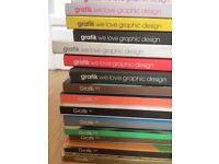 37 Grafik Magazines from 2006 up until 2010 - Collection only
