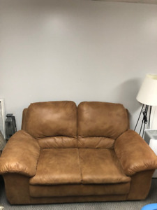 Loveseat, Chair, End Tables and Lamps