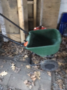 Lawn fertilizer spreader ( Scotts)