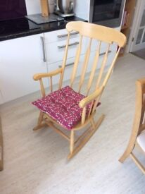 Solid wood rocking chair - perfect condition
