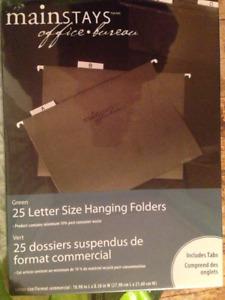 25 chemises suspendues format lettre Mainstays  avec onglets
