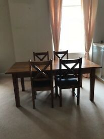 Country Style Dining Table and 4 Chairs (Like new condition)