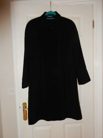 Ladies Size 10 M&S Black Lined Smart Light Weight Coat