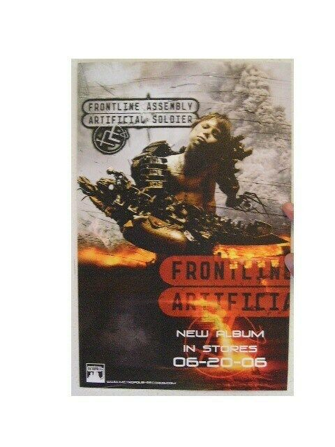 Frontline Assembly Poster Artificial Soldier Front Line Skinny Puppy