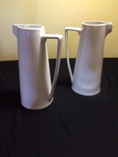 2 elegant white china jugs. Pennant Hills Hornsby Area Preview